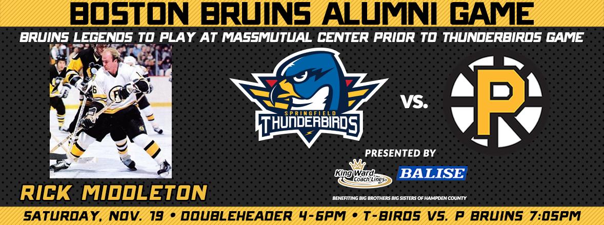 Bruins Legends Take Springfield Ice Saturday